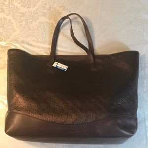 NWT Leather Gucci Tote